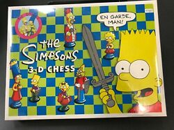 The Simpsons 3-d Chess Set And 3-d Checker Board Game 1990s Both Sealed Mint