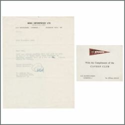 Brian Epstein 1962 Signed Letter To Don Andrew Flannery Collection Uk