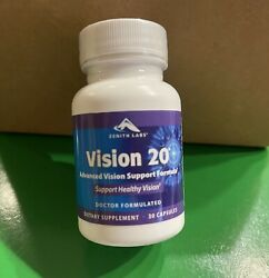 Vision 20 By Zenith Labs Support Healthy Vision 30 Capsules Exp 12/2023