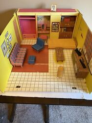 Vintage Barbie Dream House Stock No 816 With Furniture And Access 1962 Made In Usa