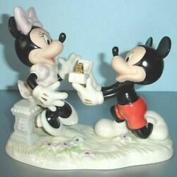 Lenox Minnie's Dream Proposal Mickey Mouse And Friends Disney Figurine New