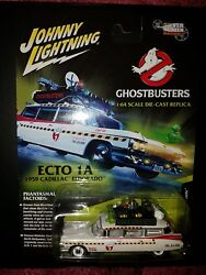Johnny Lightning White Lightning Chase Car Ghostbusters Ecto-1a Movie Rare