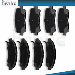 8x Ceramic Brake Pads Kit Slotted Fit For 2007-2013 Acura Mdx Front And Rear