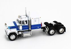 Dcp 164 White And Blue Mack Super-liner Semi Truck W/60 Sleeper Bunk New