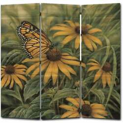 Wgi Gallery Monarch Butterfly Room Screen Printed On Wood Multi-color