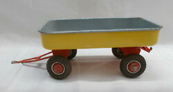 Vintage Tin Plate Toy Tipping Trailer By Arnold Made In Western Germany