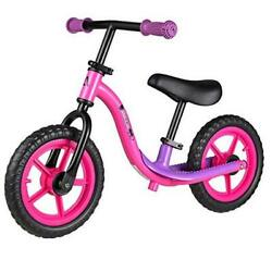 Balance Bike - Toddler Training Bike For 18 Months 2 3 4 And 5 Pinkandblack