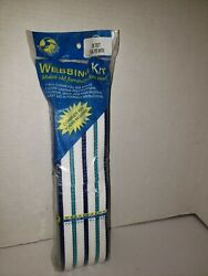 Vintage Nos Wellington Blue Re-web Kit 80 Feet Lawn Chairs Chaise Webbing Great