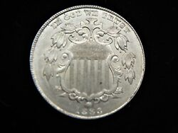 1883 United States Shield Nickel - High End Natural Coin - Last Yr. Of Series