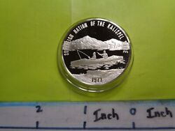 Kalispel Tribe Fishing American Indian 1973 Sovereign Nation 999 Silver Coin A