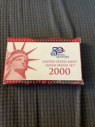 2000 S United States Mint Silver Proof Set With Box And Coa