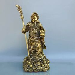 20and039and039 Brass Folk Worship Military God Of Wealth Dragon Guan Gong Guan Yu Statue