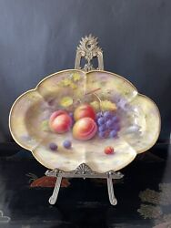 A Royal Worcester Lobed Dish