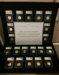 2018 A-z Datestamp Silver Proof 10p Coin Set And Case Only 295 Rrp Andpound1500