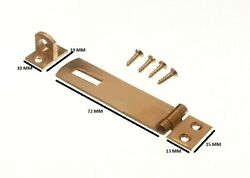 Security Hasp And Staple For Pad Locks Brass 75mm + Fixings Pack Of 200