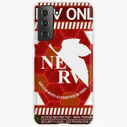 Nerv Personnel Snap Phone Case For Samsung Galaxy S 9 10 20 21 Plus Evangelion