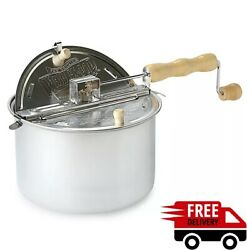 Whirley Pop Stovetop Metal Popcorn Popper Wabash Valley Farms Free Shipping