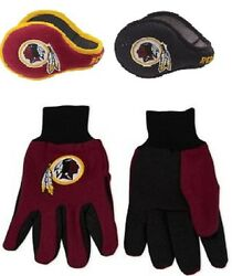 Nfl Washington Redskins 180s Winter Ear Warmers And Utility Glove Holiday Gift Set