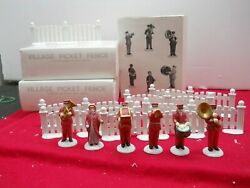 Dept. 56 Village Accessories Salvation Army Band 59854 Picket Fence 51012 13 Pcs