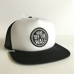 Off The Wall Adjustable Snapback Forever Trucker Hat Cap -- Black White