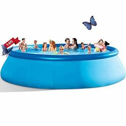 Inflatable Swimming Pools Above Ground - 14ft X 33in Blow Up Full-sized Round