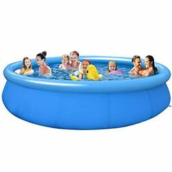Swimming Pools Above Ground Pool – 12ftx35.4in Quick Easy Set Pool, Piscinas