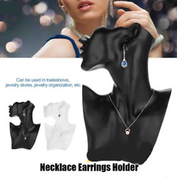 Necklace Earrings Holder Mannequin Head Bust Stand Model Shop Retailer Counters