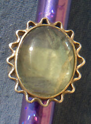 Ancient Vintage Sterling Silver Ring Fluorite Gemstone Jewelry