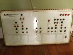 Steampunk Vintage Electronic Industrial Eaton Manufacturing Project Sign Board