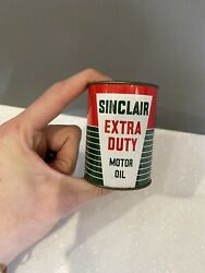 Vintage 1950's Sinclair Extra Duty Coin Bank 3 Metal Oil Can Gas Sign- Nice