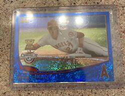 2013 Topps Opening Day Mike Trout Blue Sliding Rc Cup Ungraded Perfect Condition
