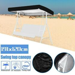 Uv Protector 75x 47 Patio Swing Canopy Top Replace Cover Garden Waterproof New