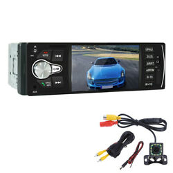 1din 4.1in Car Radio Mp5 Player Stereo Audio Bluetooth Aux Input W/12led Camera