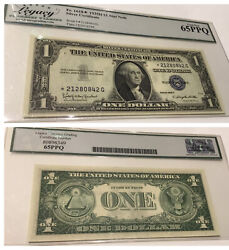 Vintage 1935-h Star 65 Ppq 1 Silver Certificate Legacy Pcgs One Dollar Bill