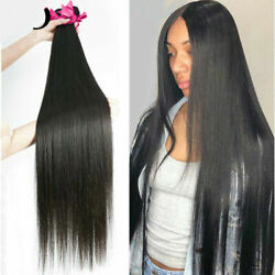 Brazilian Weave Bundles Straight 100 Human Hair 32 Inch Long Natural Color Remy