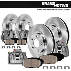 Front+rear Brake Calipers Rotors Pads For 2008 2009 2010 2011 Nitro Jeep Liberty