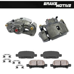 Front Brake Calipers + Ceramic Pads For Sebring Stratus V6 Coupe Eclipse Galant
