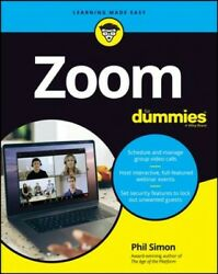 Zoom For Dummies Paperback By Simon Phil Brand New Free Shipping