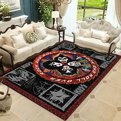 Kiss Rock Band Rock And Roll Over Premium Rectangle Rug