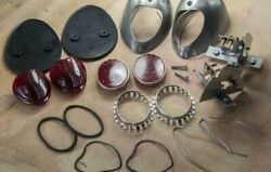 Vw Early Oval Beetle Bug Heart Taillight Housings Set Stamped As Original