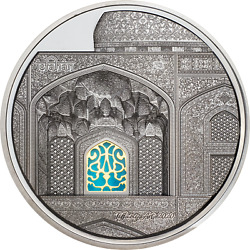 Palau 2020 25 - Art - Isfahan Black Proof - 5 Oz Silver Coin