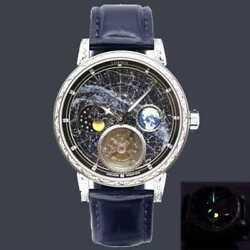 High-end Menand039s Automatic Tourbillon Watches Fashion Super Starry Sky Moon Phase