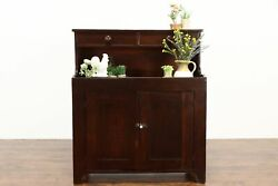 Country Primitive Farmhouse 1860 Antique Pantry Dry Sink Upper Drawers 37345