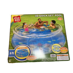 New Playday 3d Quickset Clear Pool 8 Ft. X 30 In. Deep - Incl 2 Pair Googles