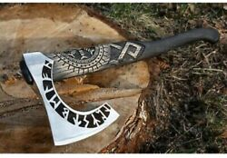 Hand Forged Carbon Stee Viking Axe Medieval Battle Viking Tomahawk Best Man Gift