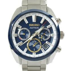 Seiko Astron Djokovic 2020 Watch Menand039s Sbxc045 Blue Stainless Steel Ss Used