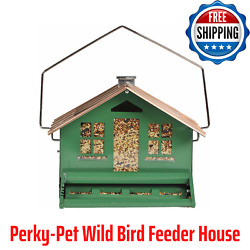 Perky-pet Green Squirrel Be Gone Ii Feeder Home - 8 Lb Capacity