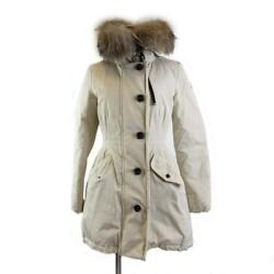 Moncler Monticole Coat 4993425/57136 Nylon Down Feather Beige Used Size 00