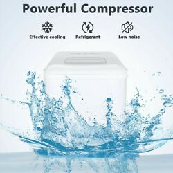 Portable Compact Ice Maker Machine 26lbs/24h 9 Ice Cubes Self Cleaning W/ Scoop