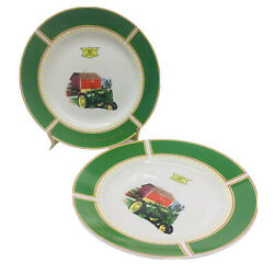John Deere Dishes 1935 Model B Tractor 11 By Gibson Set Of 2 Plates Replacement